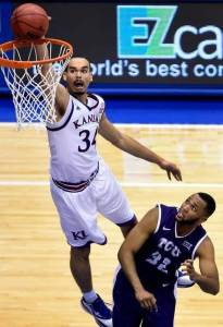 Jayhawk Perry Ellis dunks