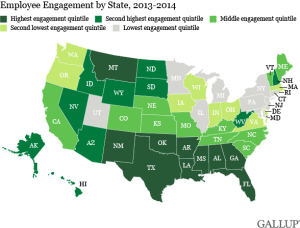 Gallup US Map Employee Engagement