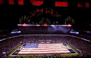 flag at stadium