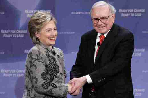 hillary-and-warren-buffett